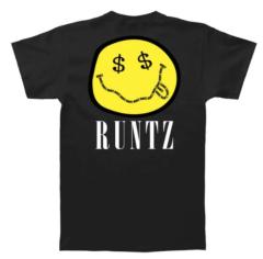 Smiley Face T-Shirt By Runtz - Black